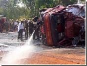 При взрыве цистерны с кислотой в Гоа сгорел автобус