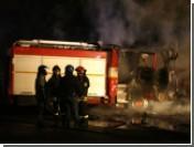 Неапольские демонстранты сожгли пожарную машину