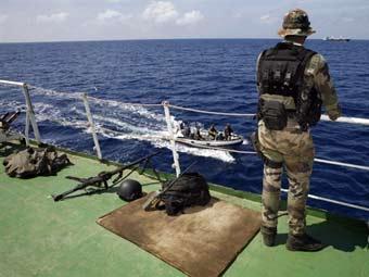 Французский фрегат спас панамский сухогруз от пиратов