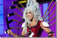 «Мисс Канада» вышла на подиум в костюме из хоккейных клюшек