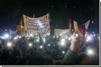 В Дрездене на антиисламские демонстрации вышли 18 тысяч человек