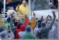 Филиппинских бомжей спрятали от Папы Римского на элитном курорте
