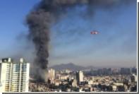 При пожаре в жилом доме в Южной Корее пострадали более 100 человек