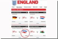 Футбольная ассоциация Англии спутала российский флаг с югославским