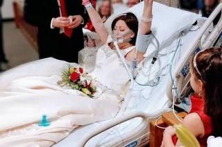 Американка успела выйти замуж за несколько часов до смерти