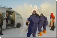 Крикливый японец искупался в Якутии при минус 60 градусах и попал на видео