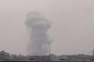 Ракетный удар сирийской армии по боевикам показали на видео