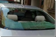 Машину россиян закидали камнями в Польше