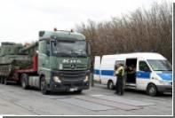 Немецкая полиция остановила автоколонну с американскими гаубицами без документов