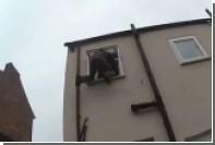 Британский вор застрял в окне второго этажа