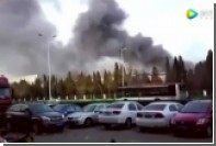 Появилось видео пожара на заводе Samsung в китайском Тяньцзине