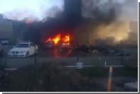 В сети появилось новое видео горящего из-за падения самолета торговогоцентра