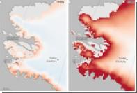 Таяние льдов вокруг американской базы с ядерным оружием показали на карте