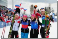 Российская команда биатлонистов получила бронзу на Всемирных военных играх