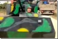 Тщеславный китаец построил танк и лишился его