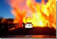 В Китае перевернувшийся грузовик с газом устроил огненный шторм