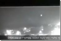 Падение сбитого сирийцами израильского истребителя попало на видео