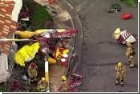 В США на жилой дом рухнул вертолет