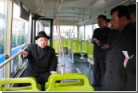 Ким Чен Ын покатался на троллейбусе