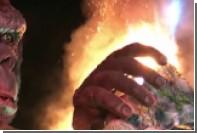 На премьере фильма про Кинг-Конга загорелась пятиметровая статуя гориллы