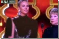Иранское телевидение закрасило декольте выступавшей на «Оскаре» Шарлиз Терон