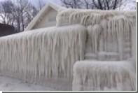 В штате Нью-Йорк дом превратился в глыбу льда после снежного шторма