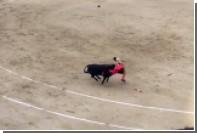 В Испании раненый бык поднял матадора на рога