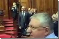 Могерини встретили пророссийскими лозунгами в парламенте Сербии