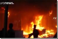 Из-за минометного обстрела в Мосуле загорелся рынок