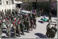 Сирийские саперы отметили выпуск из российского тренировочного центра
