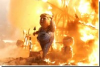 В Испании на фестивале сожгли чучело строящего стену Трампа