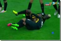 Чернокожий одноклубник уложил Аршавина на газон во время празднования гола