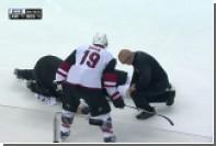 Бурмистров госпитализирован после силового приема в матче c «Бостон Брюинс»