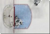 Вратарь поймал шайбу воротником свитера в матче НХЛ