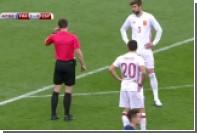 Судья отменил гол Гризманна в ворота Испании после просмотра видеоповтора