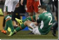 Капитан сборной Ирландии по футболу сломал ногу в отборочном матче ЧМ-2018