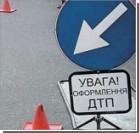 В Киеве иномарка сбила беременную женщину и врезалась в стену