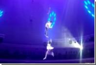 Российская гимнастка сорвалась во время шоу в белорусском цирке