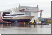 Голландская верфь спустила на воду суперъяхту с приватной палубой