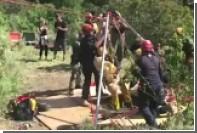 Американские пожарные спасли упавшую в девятиметровую яму собаку
