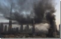 Строящийся небоскреб загорелся в Дубае