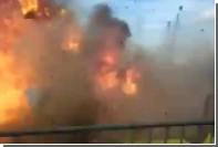 В сети появилось видео взрыва чучела на французском карнавале