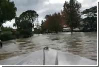 Затопленные новозеландские улицы превратились в каналы