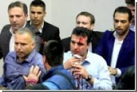 Опубликовано видео массовой драки в македонском парламенте