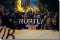 Появилось видео митинга противников изменения конституции в Турции