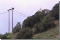 В сети появилось видео с места падения греческого военного вертолета