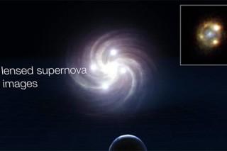 Сверхновая оказалась одновременно в четырех разных местах