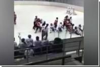 В матче женского чемпионата Казахстана по хоккею произошла массовая драка