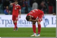 Сборная России вернулась на рекордно низкое место в рейтинге ФИФА