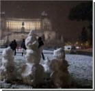 Европу засыпало снегом. Видео